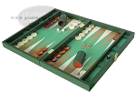 picture of Zaza & Sacci® Leather/Microfiber Backgammon Set - Model ZS-425 - Green (3 of 12)
