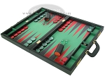 picture of Zaza & Sacci® Leather/Microfiber Backgammon Set - Model ZS-760 - Large - Black (3 of 12)