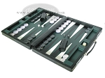 picture of Marcello de Modena Leather Backgammon Set - Model MM-621 - Large - Croco Black (3 of 12)