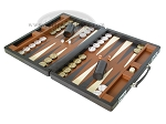 picture of Marcello de Modena Leather Backgammon Set - Model MM-642 - Large - Brown (3 of 12)