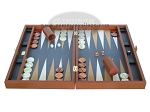picture of Zaza & Sacci Leather/Microfiber Backgammon Set - Model ZS-425 - Brown (4 of 12)