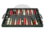 picture of Zaza & Sacci Leather Backgammon Set - Model ZS-501 - Medium - Black (4 of 12)