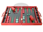 picture of Zaza & Sacci® Leather Backgammon Set - Model ZS-501 - Medium - Red (4 of 12)