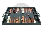 picture of Zaza & Sacci Leather Backgammon Set - Model ZS-612 - Large - Black (4 of 12)