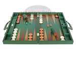 picture of Zaza & Sacci Leather Backgammon Set - Model ZS-612 - Large - Green (4 of 12)