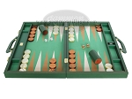 picture of Zaza & Sacci Leather/Microfiber Backgammon Set - Model ZS-760 - Large - Green (4 of 12)