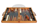 picture of Zaza & Sacci® Leather Backgammon Set - Model ZS-888 - Large - Brown (4 of 12)