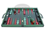 picture of Zaza & Sacci® Leather Backgammon Set - Model ZS-888 - Large - Green (4 of 12)