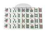 American Mah Jong Set - White Tiles - Luggage Case - Burgundy - Pushers Not Included