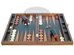 picture of Zaza & Sacci® Folding Wood Backgammon Set - Model ZS-008 - Large - Leather/Mahogany (4 of 12)