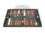 picture of Zaza & Sacci® Leather Backgammon Set - Model ZS-200 - Travel - Black (4 of 11)