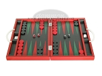 picture of Zaza & Sacci® Leather Backgammon Set - Model ZS-200 - Travel - Red (4 of 12)