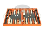 picture of Zaza & Sacci Leather Backgammon Set - Model ZS-200 - Travel - Orange (4 of 11)
