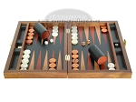 picture of Zaza & Sacci® Folding Wood Backgammon Set - Model ZS-004 - Medium - Leather/Mahogany (4 of 12)