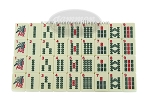 M401 - Mah Jong Tiles - Ivory - 166 Tiles + 2 Black Trays
