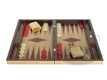 picture of 19-inch Inlaid Oak Folding Wood Backgammon Set - Red (4 of 10)