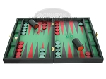 picture of Zaza & Sacci Leather/Microfiber Backgammon Set - Model ZS-425 - Black (4 of 12)