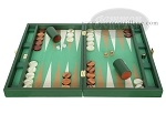 picture of Zaza & Sacci Leather/Microfiber Backgammon Set - Model ZS-425 - Green (4 of 12)