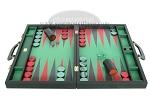 picture of Zaza & Sacci® Leather/Microfiber Backgammon Set - Model ZS-760 - Large - Black (4 of 12)