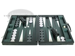 picture of Marcello de Modena™ Leather Backgammon Set - Model MM-621 - Large - Croco Black (4 of 12)