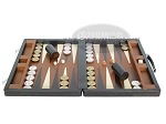 picture of Marcello de Modena Leather Backgammon Set - Model MM-642 - Large - Brown (4 of 12)