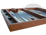 picture of Zaza & Sacci Leather/Microfiber Backgammon Set - Model ZS-425 - Brown (5 of 12)