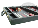 picture of Zaza & Sacci® Leather Backgammon Set - Model ZS-501 - Medium - Black (5 of 12)