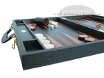 picture of Zaza & Sacci Leather Backgammon Set - Model ZS-612 - Large - Black (5 of 12)