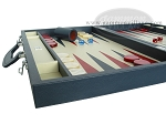 picture of Zaza & Sacci® Leather Backgammon Set - Model ZS-612 - Large - Blue (5 of 12)