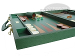 picture of Zaza & Sacci® Leather Backgammon Set - Model ZS-612 - Large - Green (5 of 12)