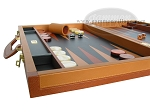 picture of Zaza & Sacci Leather Backgammon Set - Model ZS-888 - Large - Brown (5 of 12)