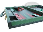picture of Zaza & Sacci® Leather Backgammon Set - Model ZS-888 - Large - Green (5 of 12)
