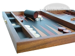 picture of Zaza & Sacci® Folding Wood Backgammon Set - Model ZS-008 - Large - Leather/Mahogany (5 of 12)