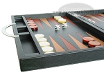 picture of Zaza & Sacci® Leather Backgammon Set - Model ZS-200 - Travel - Black (5 of 11)