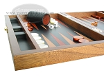 picture of Zaza & Sacci® Folding Wood Backgammon Set - Model ZS-004 - Medium - Leather/Mahogany (5 of 12)