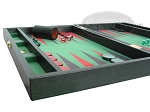 picture of Zaza & Sacci Leather/Microfiber Backgammon Set - Model ZS-425 - Black (5 of 12)