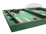 picture of Zaza & Sacci® Leather/Microfiber Backgammon Set - Model ZS-425 - Green (5 of 12)