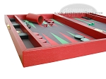 picture of Zaza & Sacci Leather/Microfiber Backgammon Set - Model ZS-425 - Red (5 of 12)