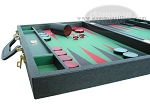 picture of Zaza & Sacci® Leather/Microfiber Backgammon Set - Model ZS-760 - Large - Black (5 of 12)