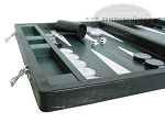 picture of Marcello de Modena™ Leather Backgammon Set - Model MM-621 - Large - Croco Black (5 of 12)
