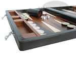 picture of Marcello de Modena™ Leather Backgammon Set - Model MM-642 - Large - Brown (5 of 12)