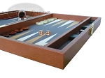 picture of Zaza & Sacci Leather/Microfiber Backgammon Set - Model ZS-425 - Brown (6 of 12)