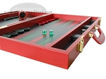 picture of Zaza & Sacci® Leather Backgammon Set - Model ZS-501 - Medium - Red (6 of 12)