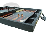 picture of Zaza & Sacci Leather Backgammon Set - Model ZS-612 - Large - Black (6 of 12)