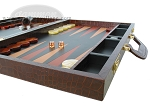 picture of Zaza & Sacci® Leather Backgammon Set - Model ZS-612 - Large - Brown Croco (6 of 12)