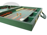 picture of Zaza & Sacci® Leather Backgammon Set - Model ZS-612 - Large - Green (6 of 12)
