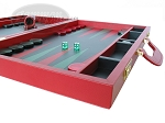 picture of Zaza & Sacci® Leather Backgammon Set - Model ZS-612 - Large - Red (6 of 12)