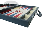 picture of Zaza & Sacci® Leather/Microfiber Backgammon Set - Model ZS-760 - Large - Blue (6 of 12)