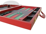 picture of Zaza & Sacci® Leather/Microfiber Backgammon Set - Model ZS-760 - Large - Red (6 of 12)