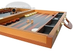 picture of Zaza & Sacci Leather Backgammon Set - Model ZS-888 - Large - Brown (6 of 12)